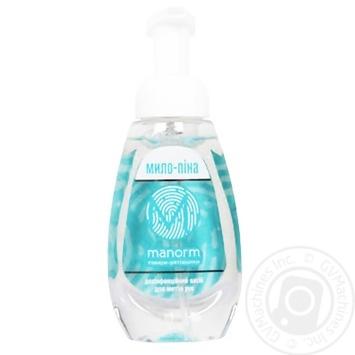 Manorm Antibakterial Disinfectant hand wash antibacterial foam 300ml with dispenser - buy, prices for Furshet - image 1