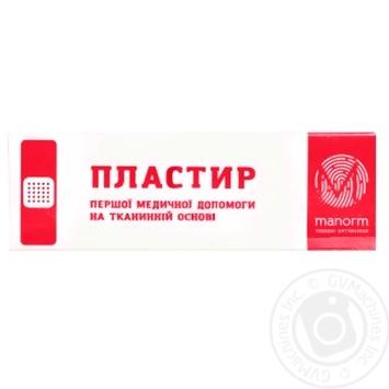 Пластырь Manorm на тканевой основе 1,9х7,2см 10шт - купить, цены на Фуршет - фото 2
