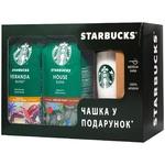 Набор кофе Starbucks молотого 2шт х 200г с чашкой