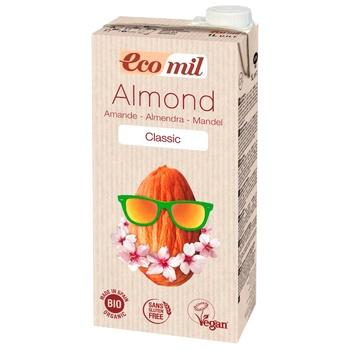 Рослинне молоко Ecomil з мигдалю класичне органічне 1л