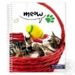 Блокнот Economix В мире животных пластиковая обложка в ассортименте А5 80 листов