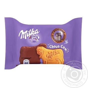 Печенье Milka покрытое молочным шоколадом 40г - купить, цены на Фуршет - фото 1