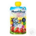 Hamanek apple-strawberry with cottage cheese 120g
