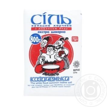 Kozachenky Extra iodized salt 800g - buy, prices for Novus - image 1