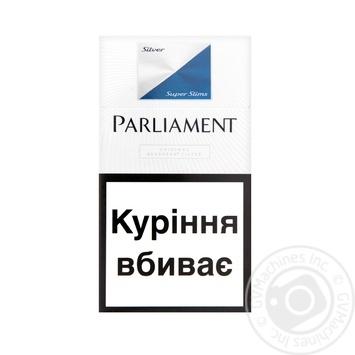 Цигарки Parliament Super Slims Silver 20шт - купити, ціни на Novus - фото 1