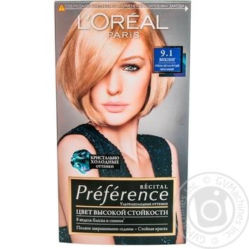 Краска для волос L'Oreal Recital Preference 9.1 Викинг очень светло-русый пепельный