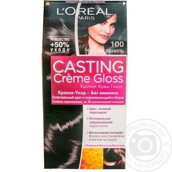 Фарба-догляд для волосся L'Oreal Casting Creme Gloss 100 Чорна ваніль без аміаку