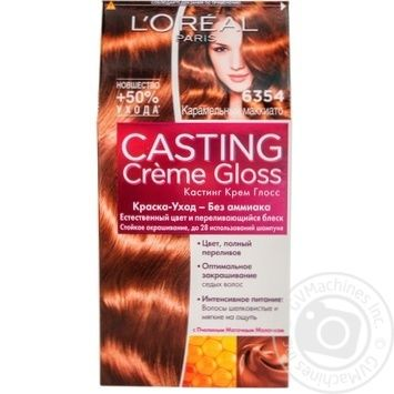 Color L'oreal Casting creme gloss ammonia free for hair