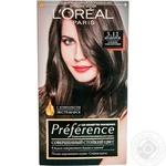 Краска для волос L'Oreal Preference 3.12 Мулен Руж Глубокий темно-коричневый
