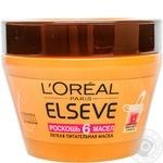Маска L'Oreal Elseve Розкіш 6 олій легка живильна для всіх типів волосся 300мл