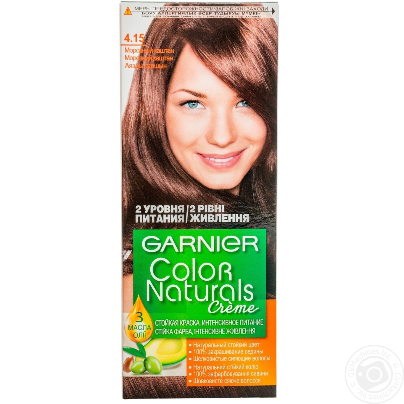 Cream Paint Garnier Color Naturals Frosty Chestnut For Hair