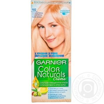 Cream-paint Garnier Color naturals snow blond for hair
