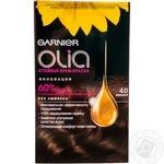 Крем-фарба для волосся Garnier стійка Olia відт. 4.0