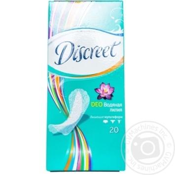 Скидка на Ежедневные прокладки Discreet Deo Water Lily 20шт
