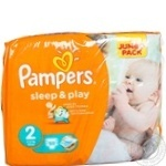 Пiдгузники Pampers Sleep & Play 2 Mini 3-6кг Джамбо 88шт