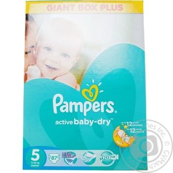 a46e60b971a0 Скидка на Подгузники Pampers Active Baby-Dry 5 Junior 11-18кг 87шт ...