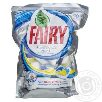Засіб д/миття посуду Fairy Platinum All in 1 в капсулах для автоматических посудомийних машин 40шт