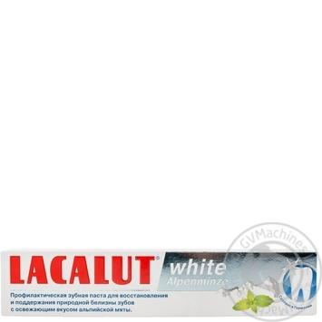 Зубная паста Lacalut White Альпийская мята 75мл