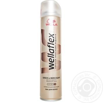 Лак Wellaflex блеск и фиксация для волос 250мл