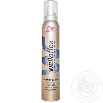 Піна Веллафлекс Об'єм до 2-х днів для волосся 200мл - купити, ціни на МегаМаркет - фото 1