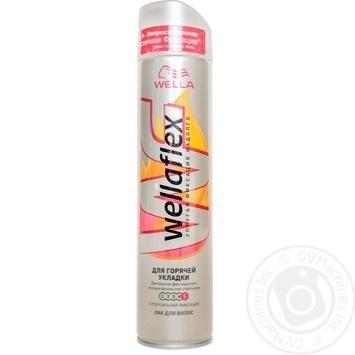 Лак Wellaflex для горячей укладки для волос 250мл