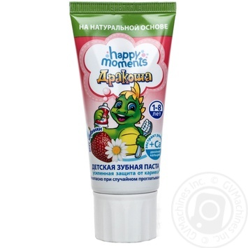 Toothpaste Happy moments strawberries with cream for children 75g