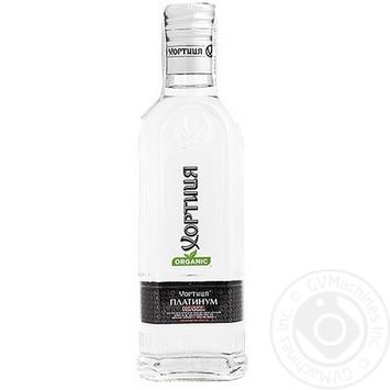 Горілка Хортиця Platinum 40% штоф 0,20л