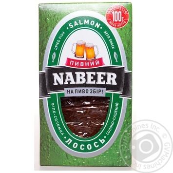 Лосось Пивний Nabeer філе-соломка солоно-сушена 100г - купити, ціни на CітіМаркет - фото 1