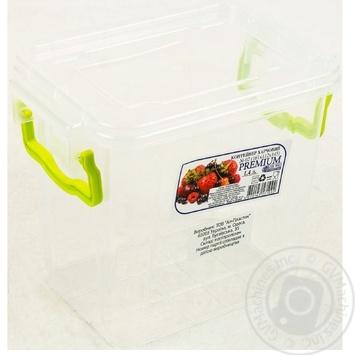 Контейнер пищевой Premium №2 высокий с крышкой 161X112X145мм 1,4л - купить, цены на Ашан - фото 4