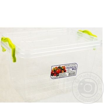 Premium №3 Food container high with lid 141X212X146mm 2l - buy, prices for Auchan - photo 6