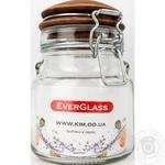 Банка Everglass стеклянная с керамической крышкой 550мл Украина