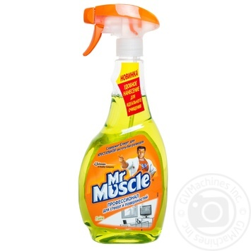 Средство Мистер Мускул Лайм для мытья стекол со спиртом 500мл Украина