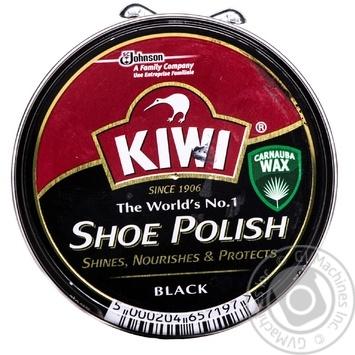Крем для взуття Kiwi банку чорний - купити, ціни на МегаМаркет - фото 1