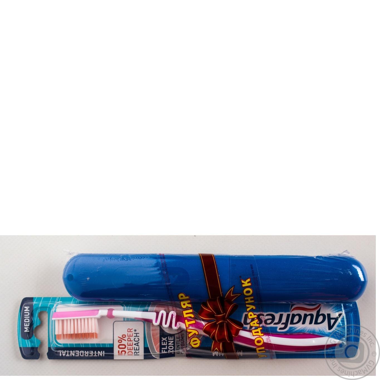Зубна щітка Аквафреш Інтердентал середньої жорсткості + футляр ... 92c545f9ff9d8