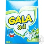 Laundry detergent powder Gala 3in1 Lily of the valley Fresh for hand laundry 400g for hand laundry