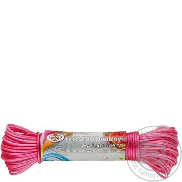 Шнур бельевой ПВХ с металлической сердцевиной 20м - купить, цены на СитиМаркет - фото 1