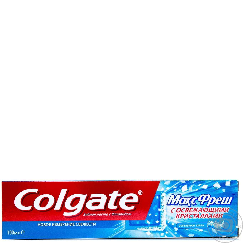 Зубна паста Colgate МаксФреш з освіжаючими кристалами 100мл ... a36563d5106ba