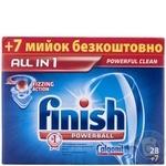 Таблетки для посудомийних машин Finish All in 1 28+ 7 безкоштовно