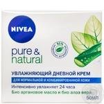 Крем Nivea Pure & Natural для лица для нормальной и комбинированной кожи дневной 50мл