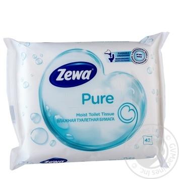 Скидка на Влажная туалетная бумага Zewa Pure 42шт