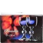 Bohemia Claudia Set of glasses for Liqueur 6 pieces 50ml