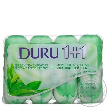 Мыло Duru экстракт зеленого чая туалетное 4шт*90г - купить, цены на Novus - фото 2