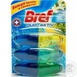 Блок туалетный Bref Дуо-актив свежий микс 3*50мл/уп
