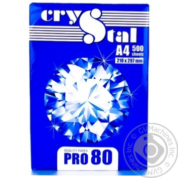 Crystal Pro Paper A4 80g/m2 500 Sheets - buy, prices for Auchan - photo 1