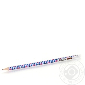 Олівець графітовий з малюнком ZiBi HB, з гумкою, блістер 5шт - купить, цены на Novus - фото 5