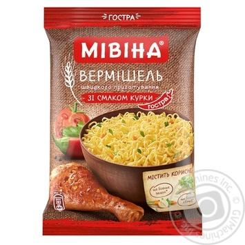 Скидка на Вермишель Мивина со вкусом курицы острая 60г