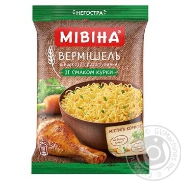 Скидка на Вермишель Мивина со вкусом курицы неострая 60г