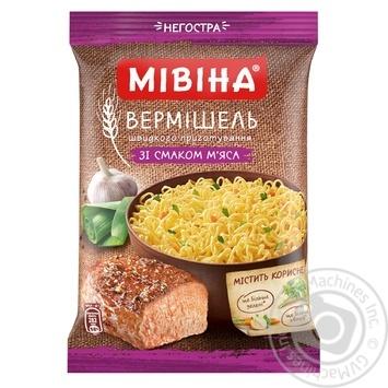Скидка на Вермишель Мивина со вкусом мяса 60г