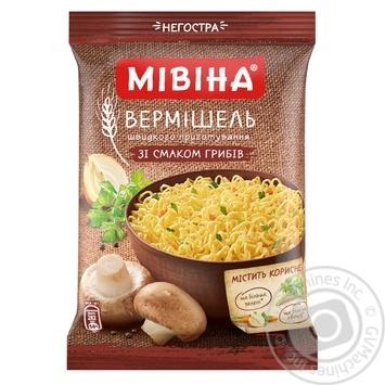 Скидка на Вермишель Мивина со вкусом грибов неострая 60г