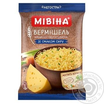 Скидка на Вермишель Мивина со вкусом сыра неострая 60г